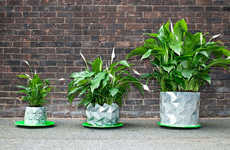 Shape-Shifting Origami Planters - GROWTH by Studio Ayaskan Changes as Plants Get Bigger