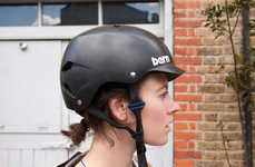 Bike Helmet Headphones - These Headphones Attach to Bike Helmets to Provide a Safe Music Experience