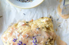 Floral Peach Scones - The Caramelized Peach and Lavender Scones Make a Sensational Seasonal Snack