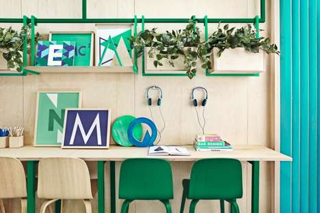 Monochrome Classroom Interiors
