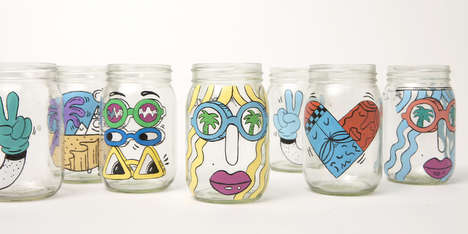 Hand-Painted Coffee Jars