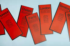 Sophisticated Design-Focused Maps - These Streamlined City Guides by Red Maps Don't Skimp on Style