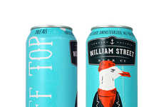 Seaside Pale Ale Packaging - The William Street Beer Co is a New Microbrewery with Style