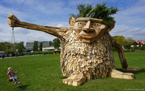 Trollish Wood Sculptures