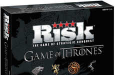 Fantasy Strategy Board Games - The Game of Thrones Risk Edition Lets People Battle Over Westeros