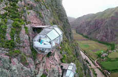 Transparent Mountainside Pods