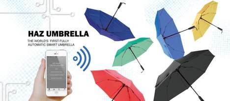 Internet-Connected Umbrellas - This High-Tech Umbrella Contains a Multitude of Advanced Features