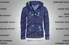 Multitool Travel Jackets - The BauBax Jacket Offers Fourteen Excellent Features For Travel