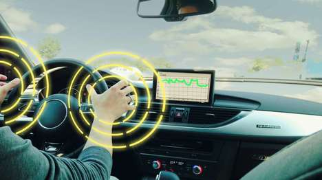Drowsiness-Detecting Steering Wheels - This Smart Steering Wheel Alerts Drivers When They're Drowsy
