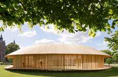 Spherical Wooden Pavilions