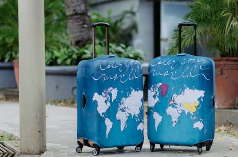 Customized Coloring Luggage - These Luggage Pieces Allow Consumers to Track Their Travels in Color