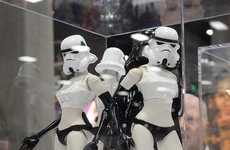 Female Cyborg Mannequins - These Curvaceous Storm Trooper Figures Boast Long Legs & Stiletto Boots