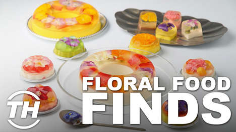 Floral Food Finds - Alyson Wyers Counts Down Her Favorite Examples of Edible Flower Desserts