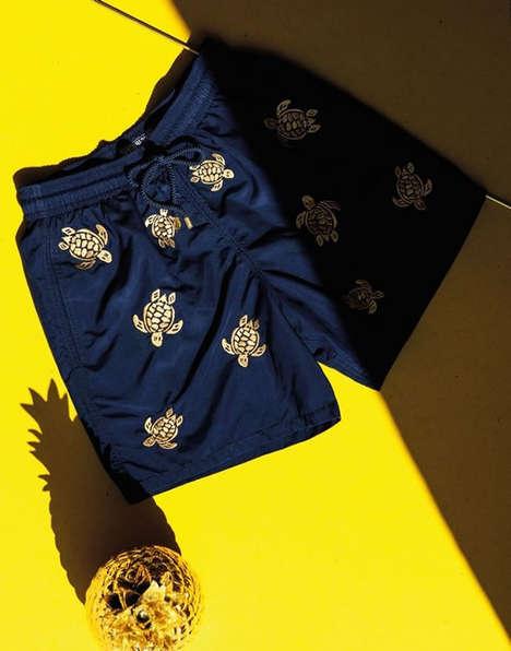 Sleek Gilded Swimwear