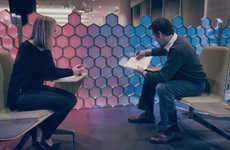 Pixelated Office Workspaces - These Funky Cubical Dividers are Made from Pixel-Like Modules