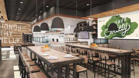 Combination Dining Eateries - The Honor Society Handcrafted Eatery Blends Fine & Fast Casual Dining