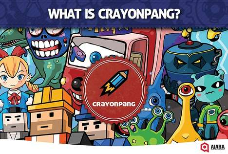 Augmented Coloring Books - 'Crayonpang' Adds Animation and Mobility to Each Colorful Drawing