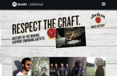 Co-Branded Music Campaigns - Spotify x Jim Beam's 'Respect the Craft' Supports of Emerging Artists