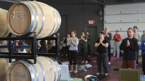 Brewery Yoga Classes - The Port City Brewing Co. Fuses Yoga and Alcohol in a Fun Envrionment