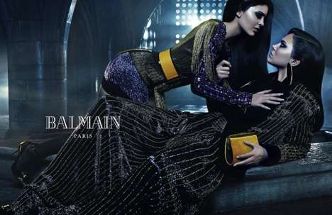 Sultry Sibling Campaigns - The New Balmain Line Editorials Feature Modeling Sibling Spreads