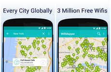 Internet Mapping Apps - Mobile Wifi Map WifiMapper Shows Where the Hotspots are Around You