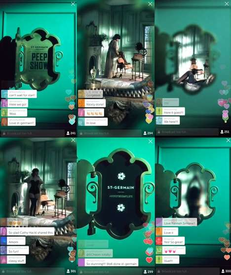 Sensual Liquor Livestreams - St Germain Uses Periscope for Mysterious Media Streaming Marketing