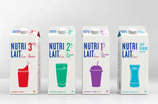 Simple Milk Carton Branding - Nutrilait Boasts a New Dynamic Visual Branding Scheme by TAXI