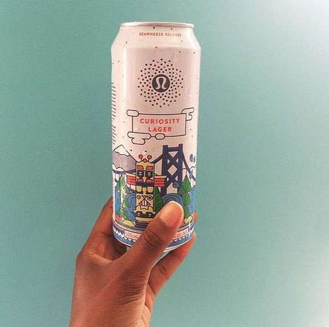 Yogi Lifestyle Beers - Lululemon Brings Together Yoga and Beer with Its Co-Branded Curiosity Lager