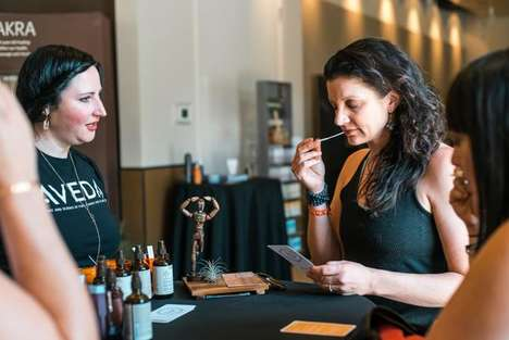 Mindful Beauty Bars - Aveda Treated Wanderlust Festival Attendees to Pampering at 'The Beauty Bar'