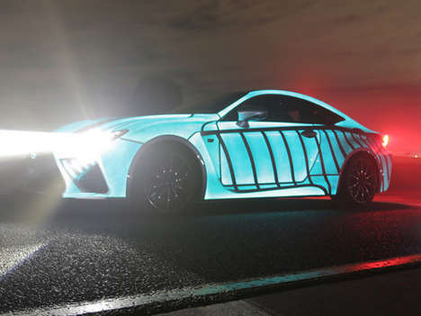 Heartbeat-Monitoring Cars - The Lexus RC F's Exterior Paint Reflects the Heartbeat of Its Driver