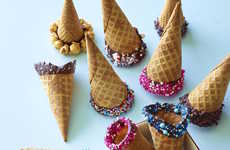 DIY Chocolate-Dipped Cones