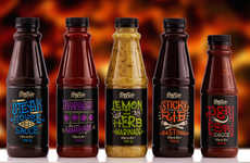 African-Themed Sauces - These African Sauce Labels are Decorated with Cultural Text & Images
