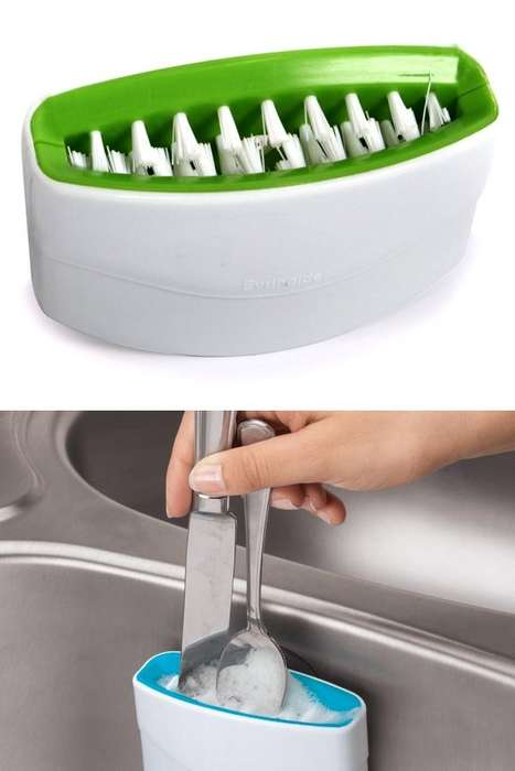 Sink-Mounted Cutlery Cleaners
