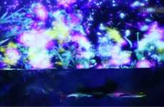 Psychedelic Floral Aquariums - The 'Night Aquarium' by 'teamLab' has Fish, Flowers & Flashing Lights