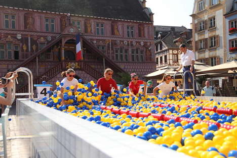Giant Outdoor Ball Pits - This Ball Pool Was Part of a Promotional Event for a New IKEA Store