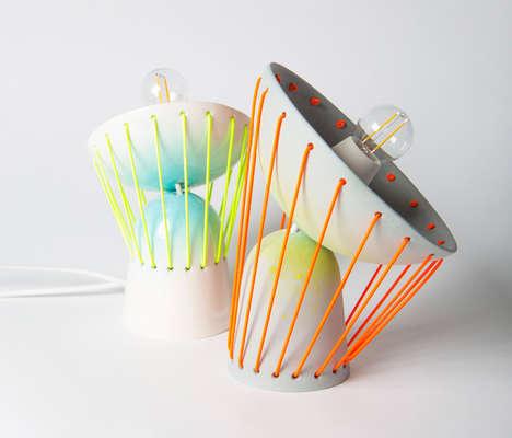 Mobile Elastic Lampshades