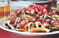 Fishy Watermelon Nachos - These Blackened Tuna Nachos are Topped with Watermelon Pico De Gallo