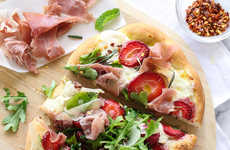 Seasonal Berry Pizzas - This Unusual Berry Prosciutto and Arugula Pizza is a Mouthwatering Recipe