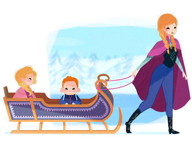 Maternal Disney Princesses