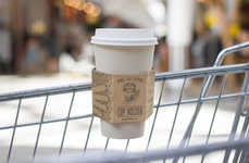 Shopping Cart Cup Holders - These Innovative Cardboard Cup Holders Make Shopping with Coffee Easy