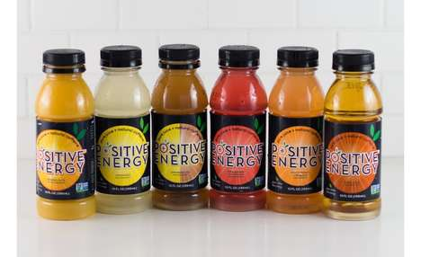 Caffeinated Fruit Juices - Positive Energy Beverages are Natural Juices Infused with Caffeine