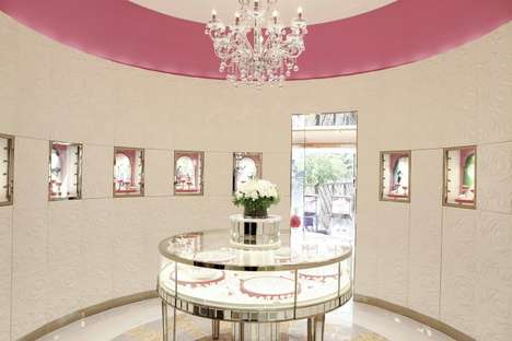 Cake-Shaped Jewelry Boutiques - This Jaff Jewellry Shop Design Imitates Being Inside a Wedding Cake