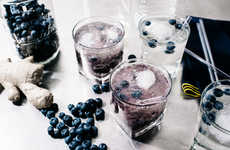 Superfood Berry Spritzers - Iamafoodblog's Blueberry Spritzer is Infused with Homemade Ginger Ale