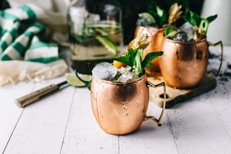 Jalapeno-Infused Cocktails - These Moscow Mules Contain a Spicy and Smoky Mezcal Instead of Vodka
