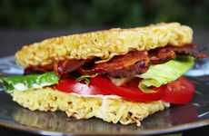 Ramen Bun BLTs - The Buzzfeed BLT Sandwich Tutorial Shows You How to Make Ramen Noodle Buns