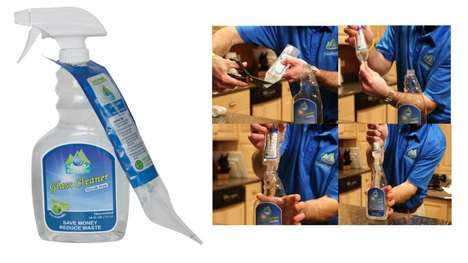 Replenishing Spray Bottles - The Squeasy Pouch Comes with a Refill to Make Another Cleaning Product