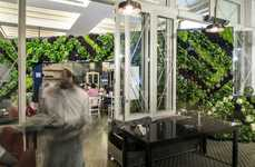 Restaurant Plant Walls - The Great Green Wall in a Beirut Eatery is Made from Six Types of Veggies