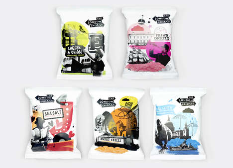 Youthful Crisps Packaging - London Crisp Co Boasts Hip, Brightly Colored Chip Branding
