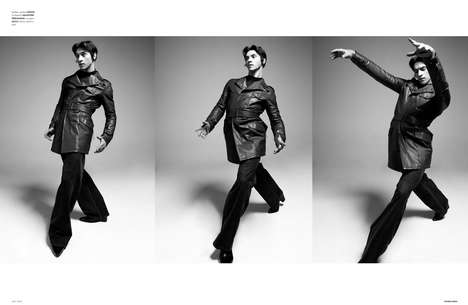 Quirky Dancer Portraits - The Ones 2 Watch Balint Barna Exclusive Highlights Retro Menswear