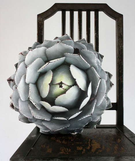 This is Arid Plant-Inspired Decorative Pillow is Astonishingly Life-Like